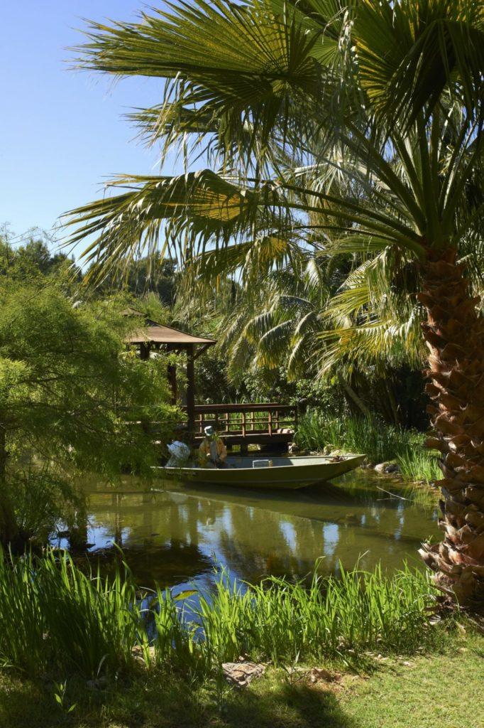 Japanese Zen Pagoda On Lake