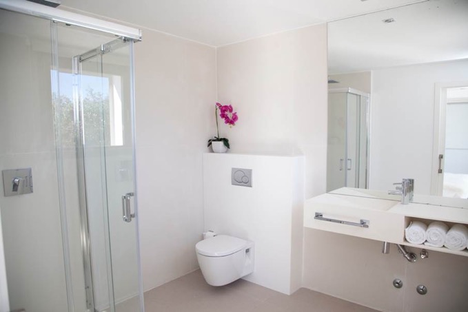 Villa In Cap Martinet Bathroom With Shower Ibiza