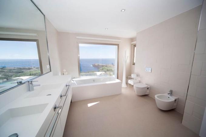 Villa In Cap Martinet Bathroom With View