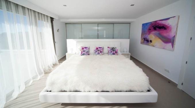 Villa In Cap Martinet Bedroom With Sea View Ibiza