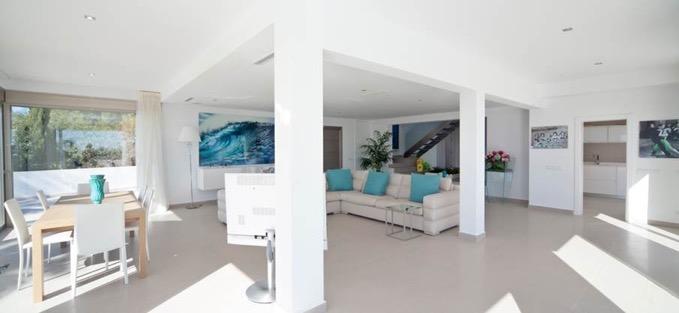 Villa In Cap Martinet Living Area Ibiza