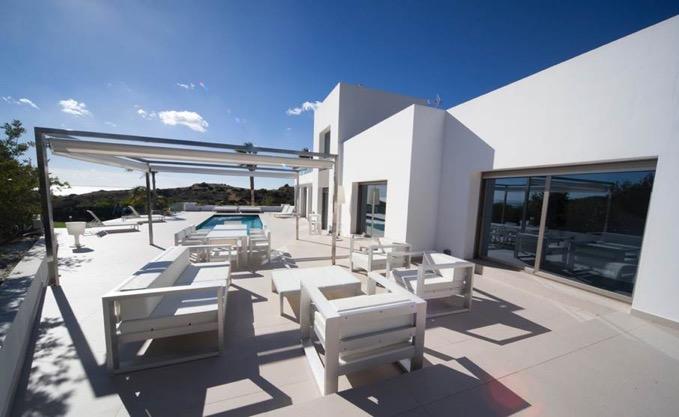 Villa In Cap Martinet Outside Lounge Area Ibiza