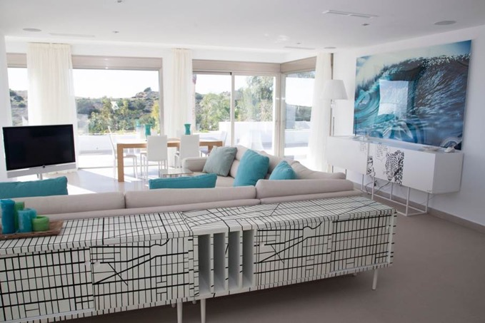 Villa In Cap Martinet Stylish Living Area Ibiza