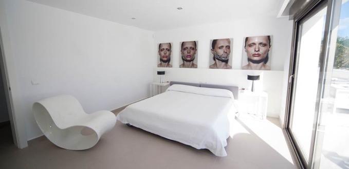 Villa In Cap Martinet White Bedroom Ibiza