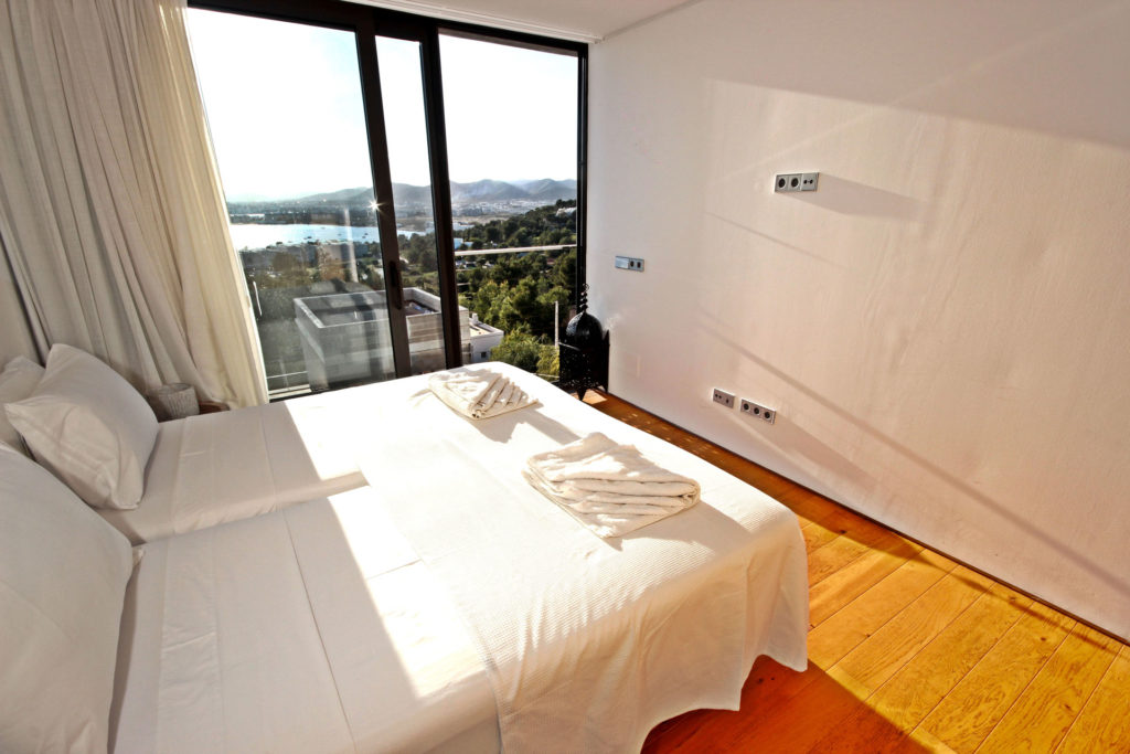 Villa In Talamanca Bedroom With Seaview Ibiza