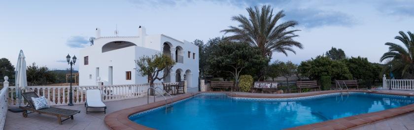 Arches Blue Pool Ibiza Style Villa