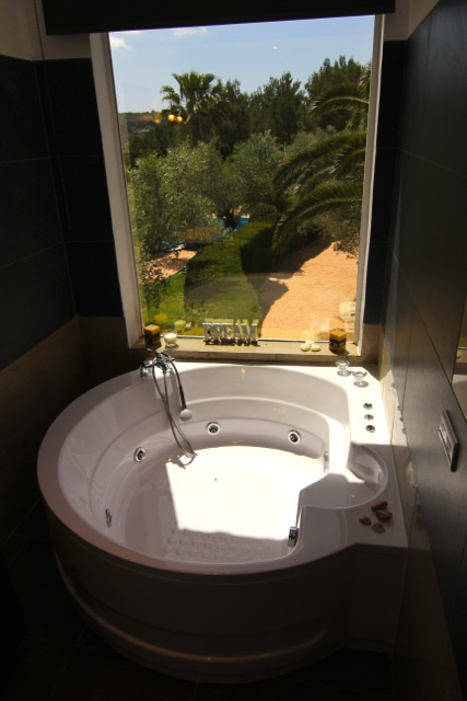 Bathroom Jacuzzi Bath With A View Ibiza Villa