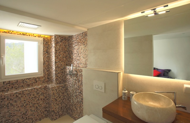 Bathroom Stone Walls Ibiza Modern Style Finca Villa