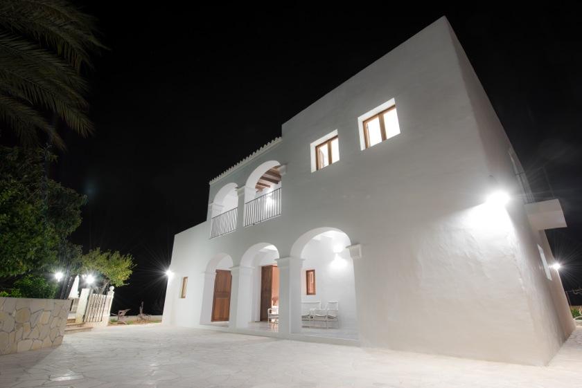 Beauiful Arches Night Light Ibiza Villa
