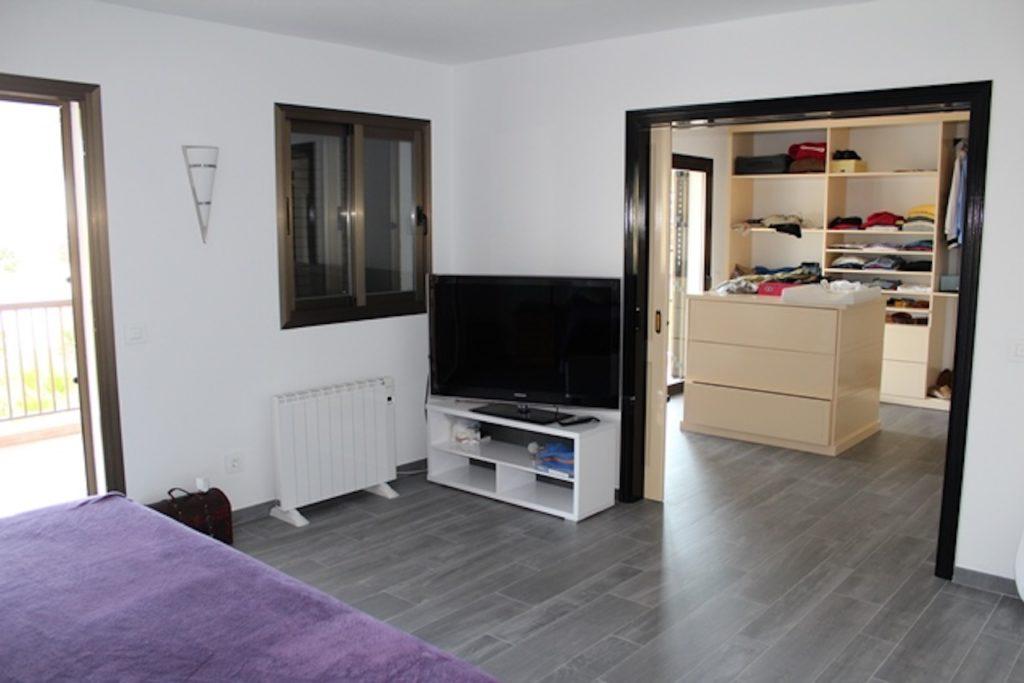 Bedroom Ibiza Villa Purple Tv Bed