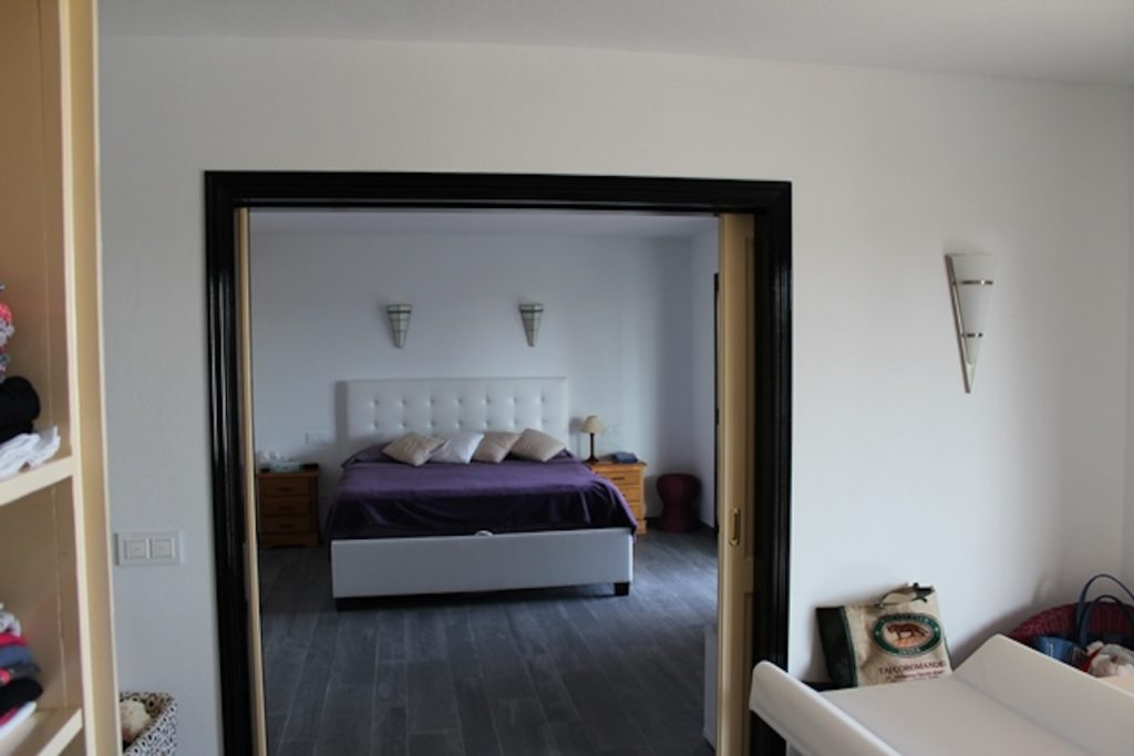 Bedroom Ibiza Villa Purple Tv Bed Mirror