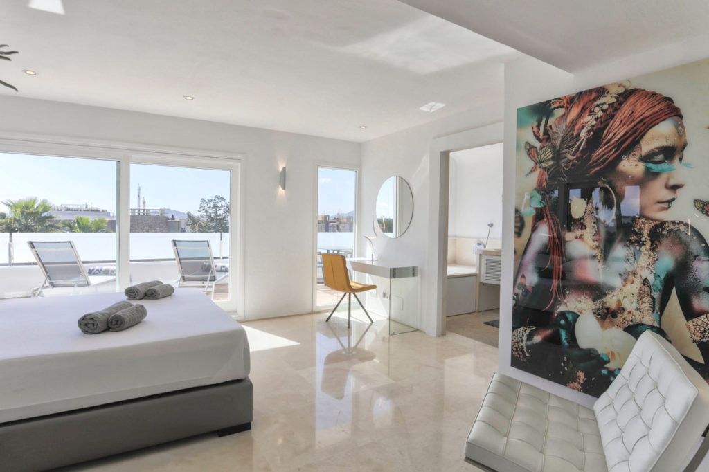 Bedroom Modern Art Talmanca Ibiza Villa