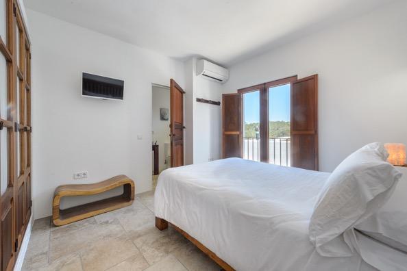 Bedroom View Ibiza Villa White Beautiful