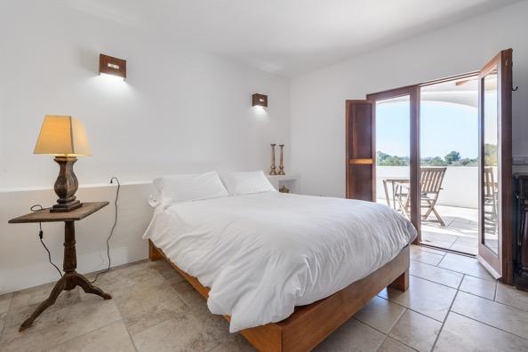 Bedroom White Outside View Villa Ibiza Amazing Beautiful
