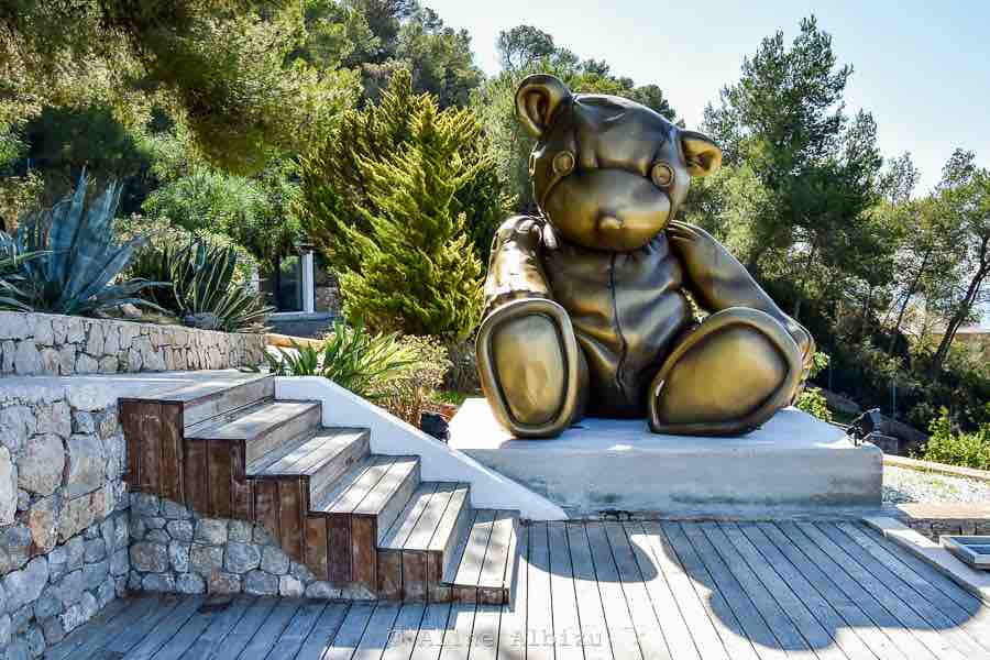 Big Bronze Bear Ibiza Villa Luxury Swimming Pool
