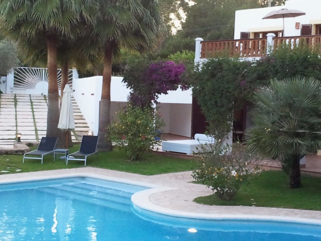 Big Villa Gardens Pool Trees Ibiza