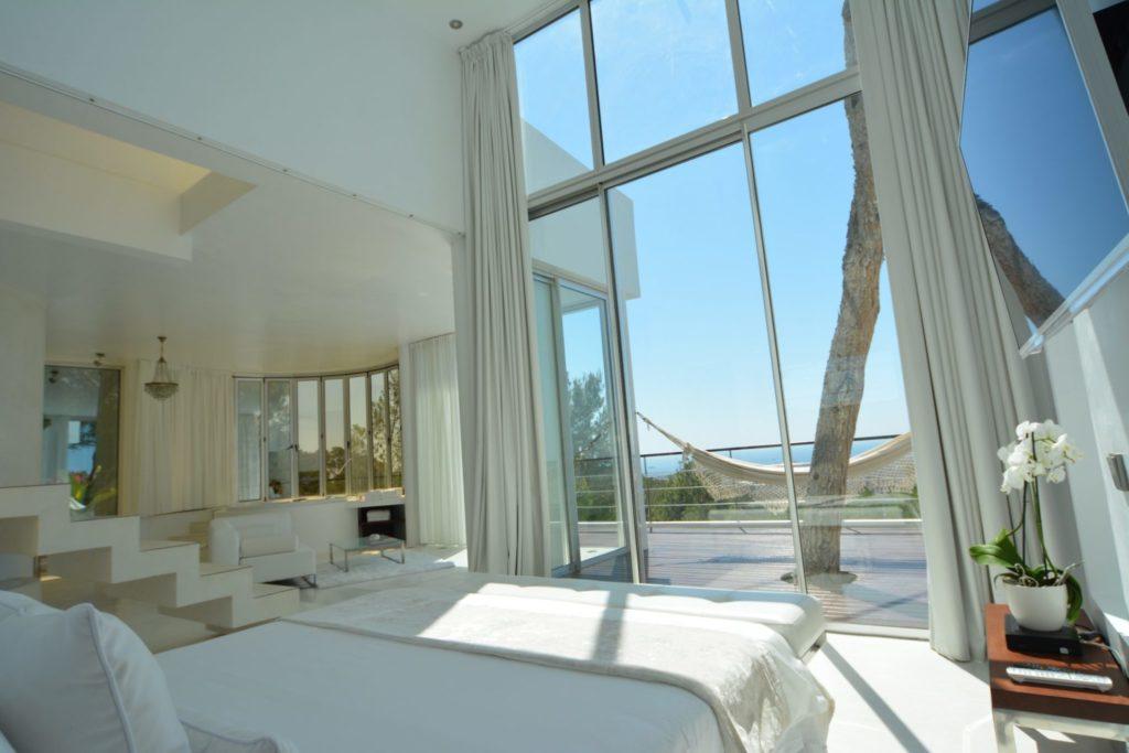 Big Villa Master Bed View Ibiza