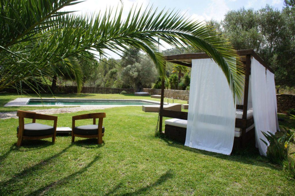 Big Villa Outside Chill Out Area Ibiza