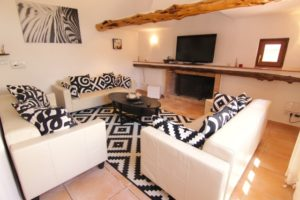 Black White Sofa Finca Villa Ibiza Sitting Room