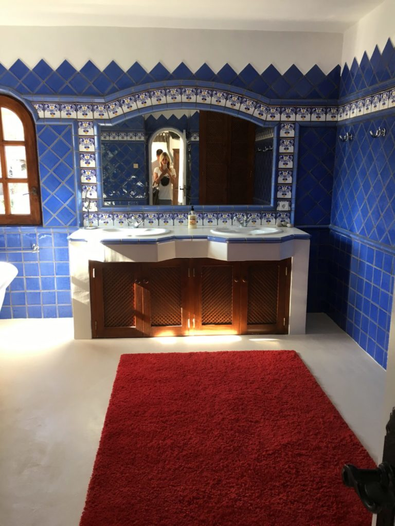 Blue Tiles Bathroom Ibiza Villa