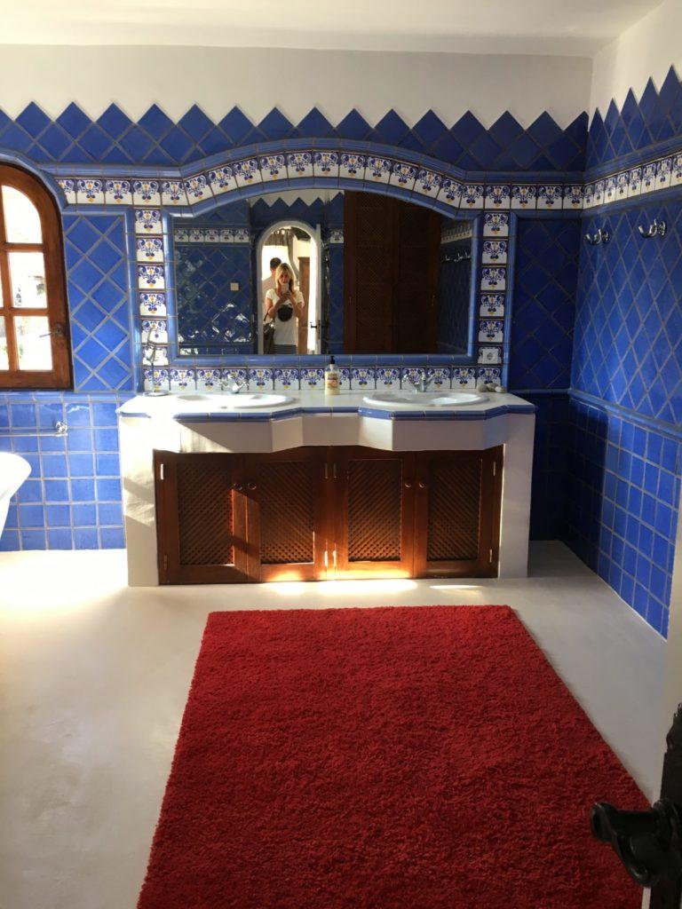 Blue Tiles Bathroom Ibiza Villa