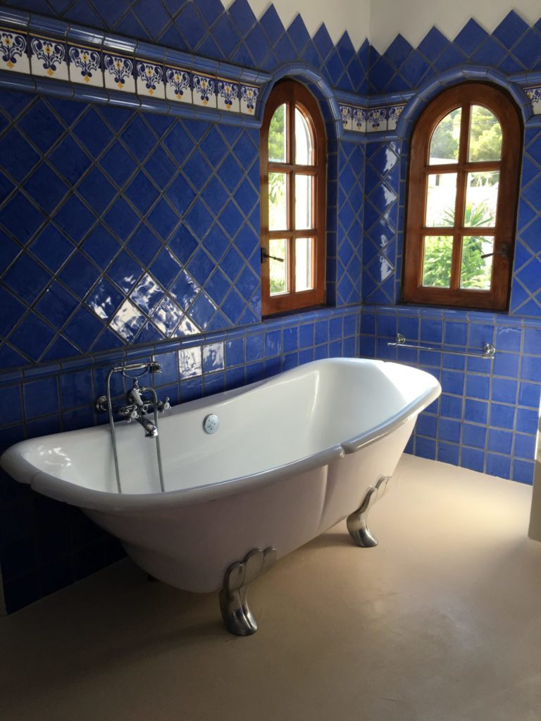 Blue Tiles Bathroom Ibiza Villa Bath Victorian