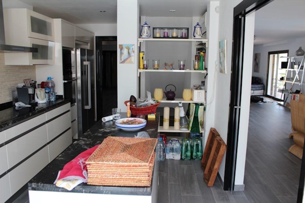 Bookshelf Living Area Villa Ibiza