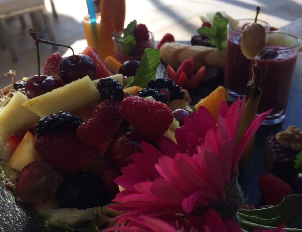 Breakfast Ibiza Villa Fruit Flowers Delicious