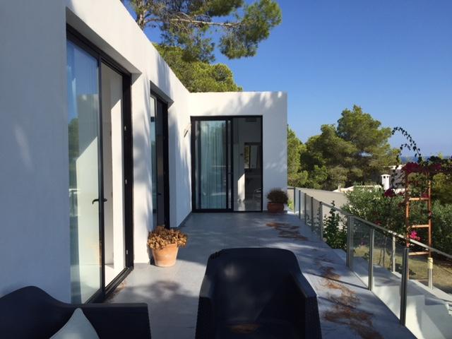 Chic Classic Cube Style Villa Ibiza Exterior Terrace