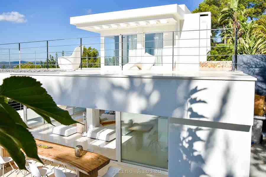 Chic Modern White Clean Crisp Fresh Amazing Ibiza Villa Exterior