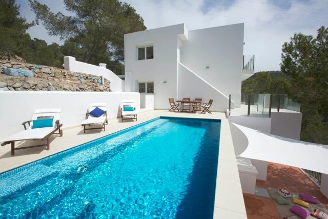 Chic Modern White Clean Crisp Fresh Amazing Ibiza Villa Poolside