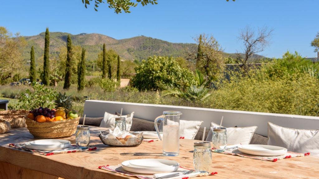 Dining Area Exterior Lights Amigos Los Villa Ibiza