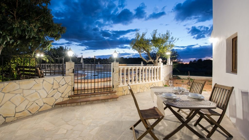 Dining Area Ibiza Villa Dusk