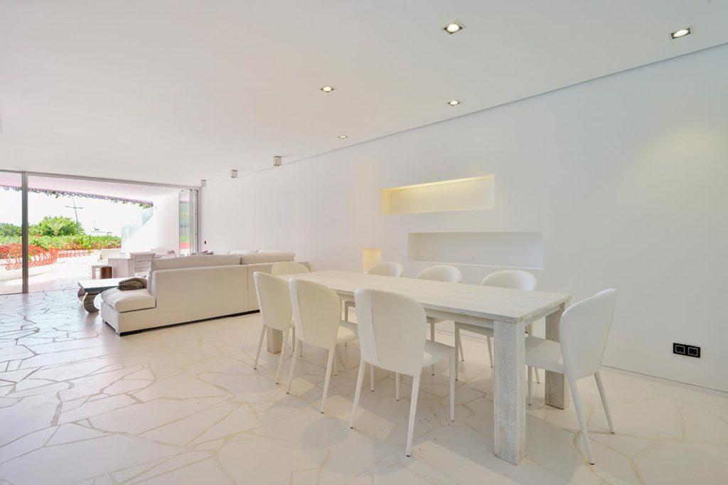Dining Area Ibiza White Open Space Villa