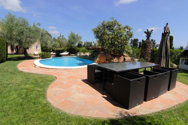 Dining Area Outdoor Ibiza Villa Poolside