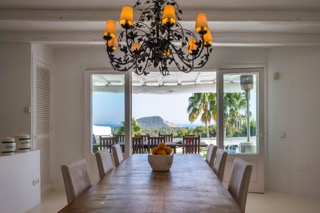 Dining Area Porroig Location Villa Ibiza