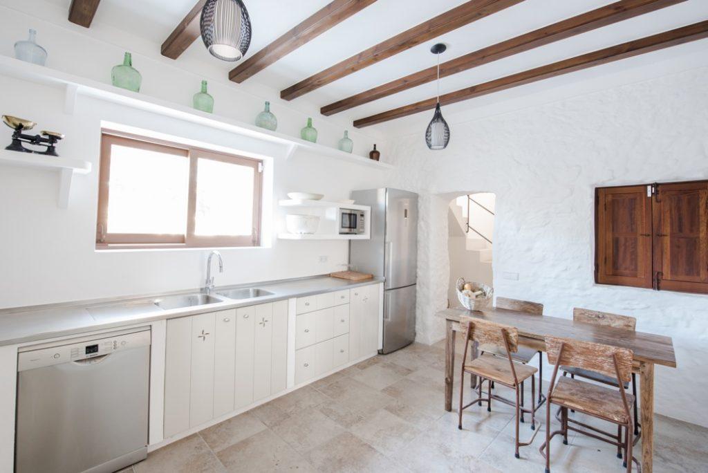 Dining Room Ibiza Villa Roof Wooden