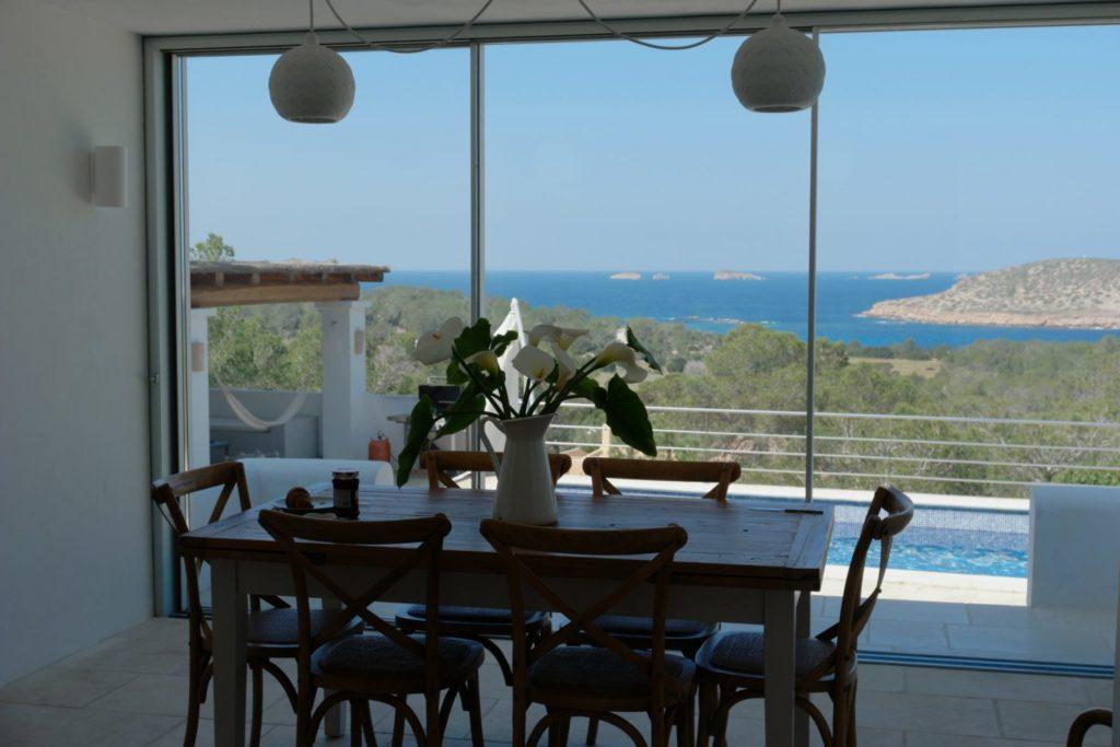 Dining Room Ibiza Villa Sea View Island