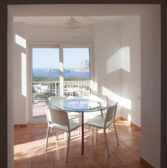 Dining Table White Modern View Ibiza Villa