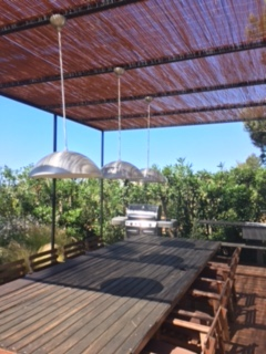 Dinner Outside Green Garden Cala Jondal Ibiza 1