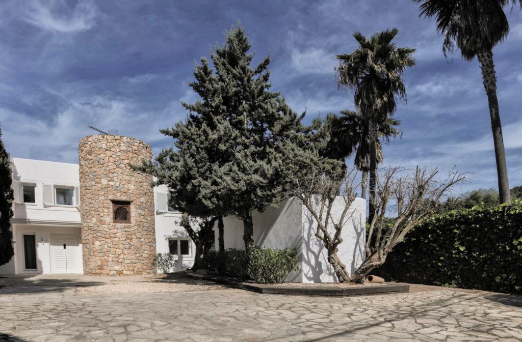 Entrance Palm Trees Talamanca Ibiza Villa