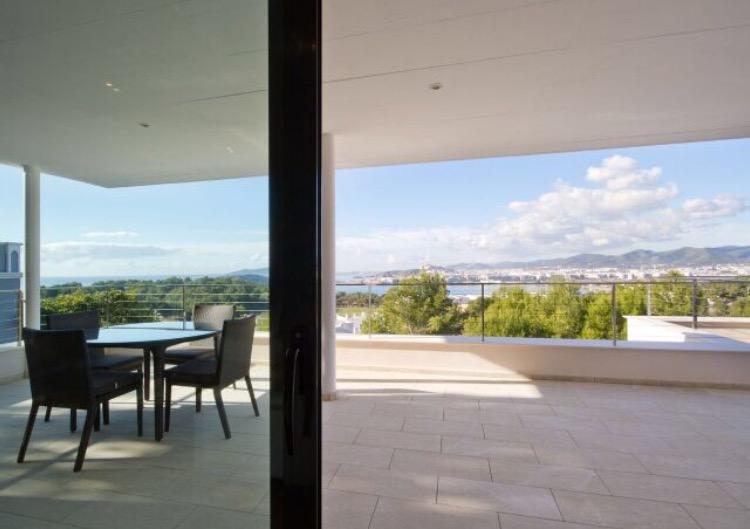 Exterior Canopy Dining Area Ibiza Villa