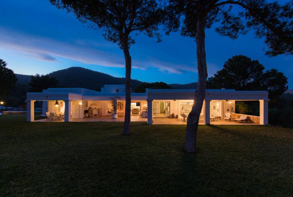 Exterior Evening Villa Ibiza Blue Sky