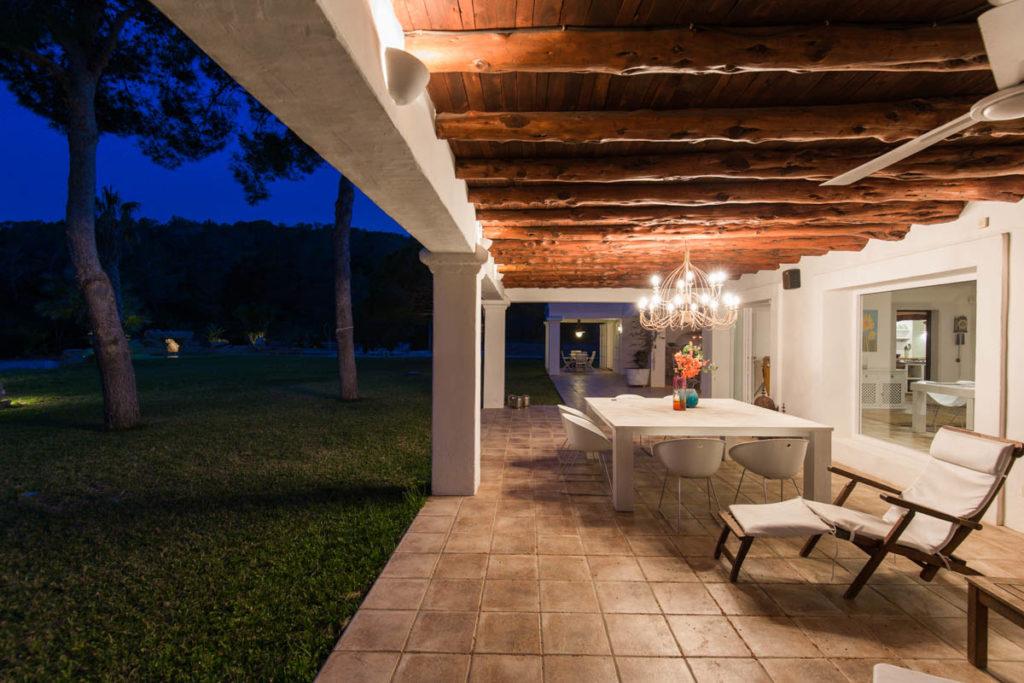 Exterior Evening Villa Ibiza Sky Blue