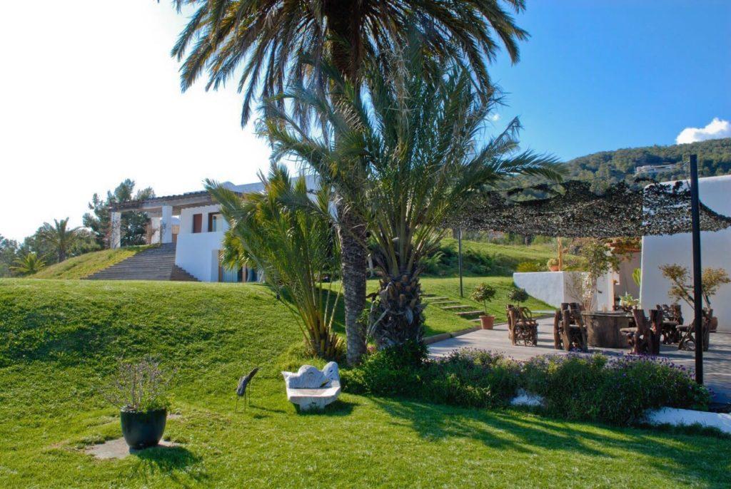 Exterior Garden Trees Villa Ibiza White