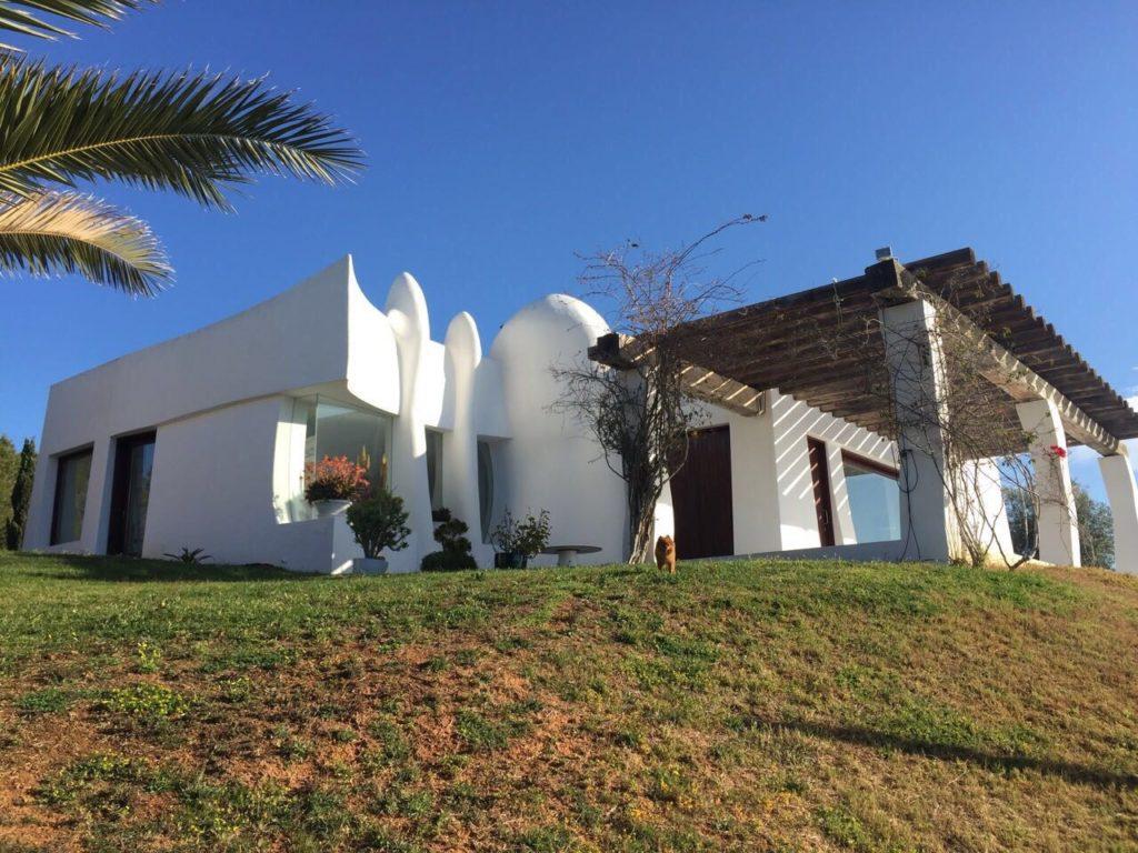 Exterior Villa Ibiza White Garden Trees