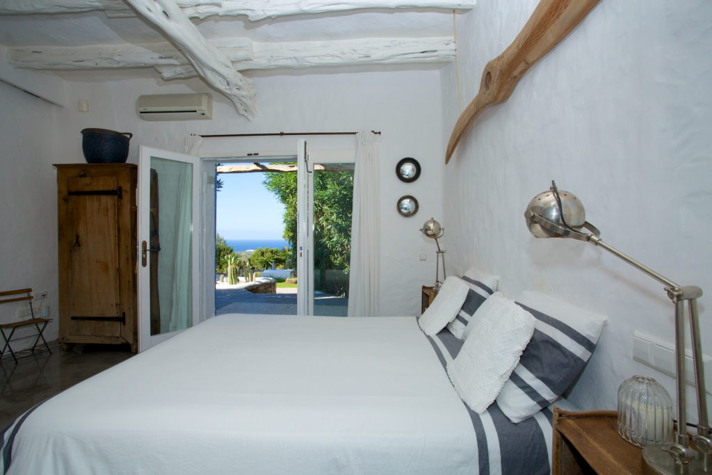 Finca Bed Comfort White Walls Interior Stylish Bedroom Ibiza