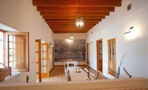Finca Big Wooden Beams Dining Area Ibiza