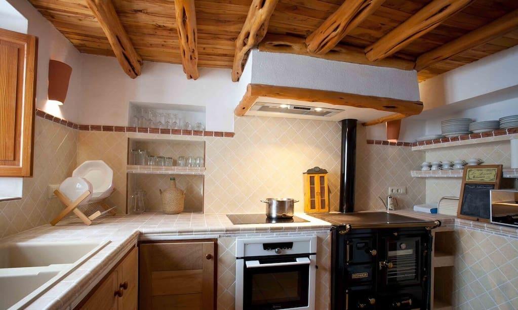 Finca Big Wooden Beams Kitchen Ibiza Entrance