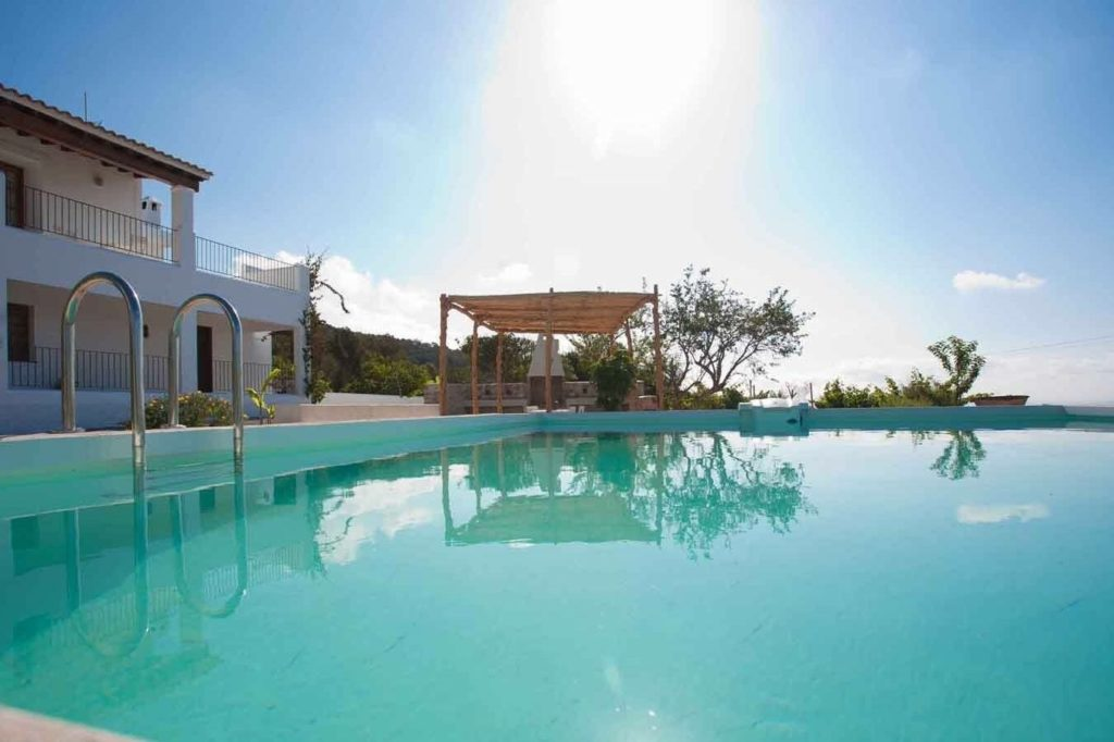 Finca Big Wooden Beams Outdoor Area Ibiza Pool
